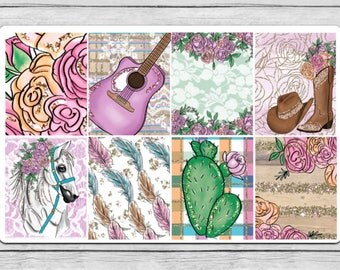 Country Love Full Box Planner Stickers
