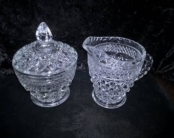 Wexford Covered Sugar & Creamer by Anchor Hocking