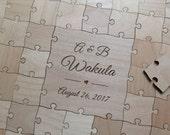 100-150 pcs. Custom Wedding Guest Book Puzzle -Guest Book Alternative