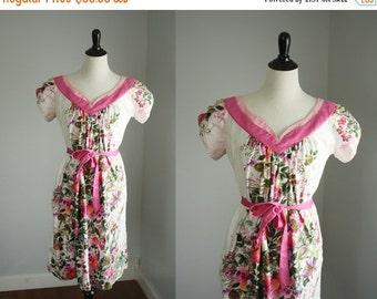 SALE 40% OFF vintage floral dress | 1970s hawaiian dress