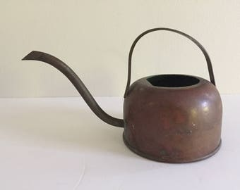 Vintage Copper and Brass Watering Can