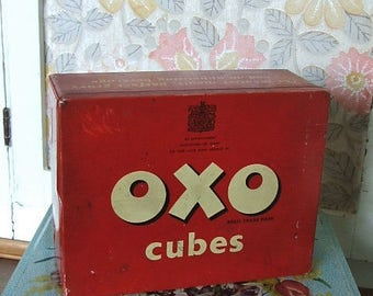 Old Vntage Oxo Cubes Tin