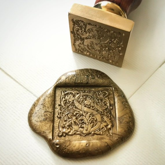 Square wax seal stamp letter s heypenman by blackmarketintl for Letter seal stamp
