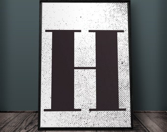 Letter H Wall Decor letter h | etsy