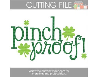 Pinch Proof cut file for Cricut, Silhouette, Instant Download (eps, svg, gsd, dxf, ai, jpg, and png)