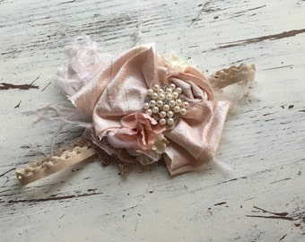 jewel bow headband- Baby Girl Headband- baby Headband- Flower Girl Headband- matilda jane- Persnickety Headband- Photo Prop