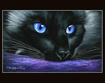 Ragdoll Cat Print Thinking by Irina Garmashova