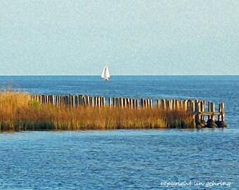 Scenic Sailing Lake Ponchartrain 11x14 Limited Edition Print