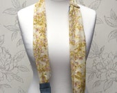 Yellow & Pink Flower Scarf Camera Strap, Soft Yellow Scarf DSLR Camera Strap,  Adjustable Camera Neck Strap, Photography Gift