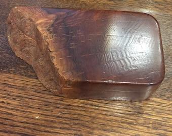Vintage burl wood live edge artist handmade jewekry trinket stash box boho bohemian free shipping