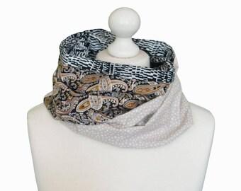 Retro Boho scarf for men, Infinity scarf / Man Neck scarf /  Man infinity scarf one of a kind gift for men