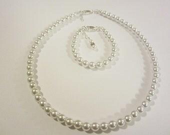 Newborn baby girl sterling silver filled necklace and bracelet set