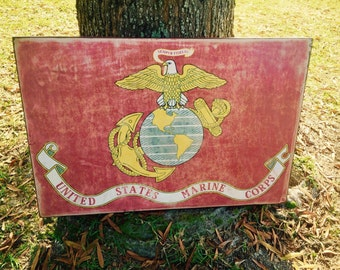 Vintage Marine Corps Flag