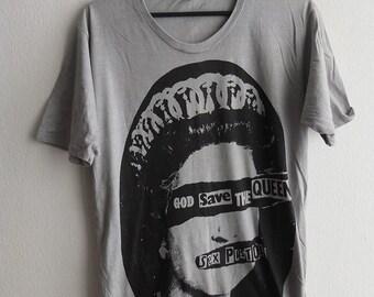 Punk Queen of England Grey Shirt M