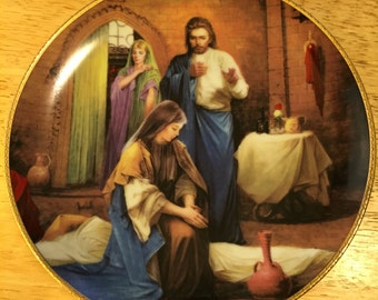 Collectible Jesus Plate - The Healing of the Sick