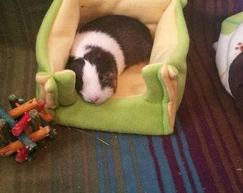 Fleece Square Cozy bed hedgehog guinea pig ferret hamster rat rabbit and other small animals cavy custom