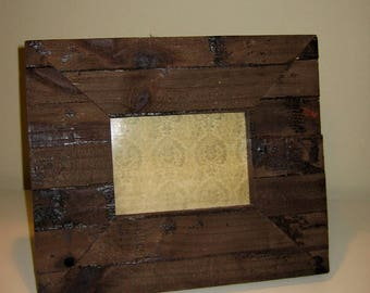 Rustic Picture Frame for 5x7 art/photo. Desktop or Tabletop