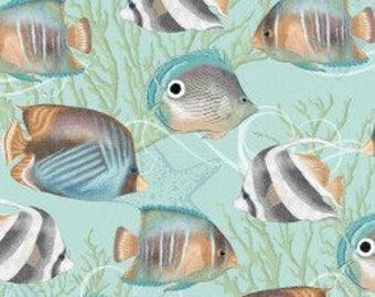Butterfly Fish - Seaside Dreams - Cotton Fabric - Studio E Fabrics - FISH-02