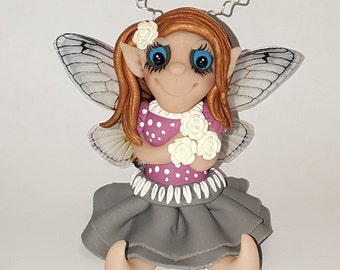 One of a kind polymer clay fairy