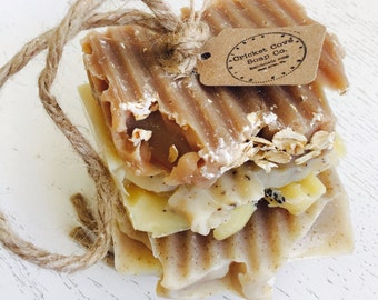 Father's Day - Soap on a Rope - Variety Handmade Soap Stack  - Soap Set -  Handmade Soap - natural jute