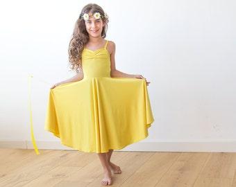 Yellow Ballerina dress, Sun-flower dress 5002