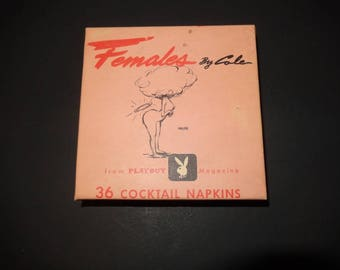 Playboy Cocktail Napkins - Females By Cole 1956