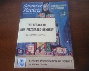 The Saturday Review Magazine - Kennedy Memorabilia