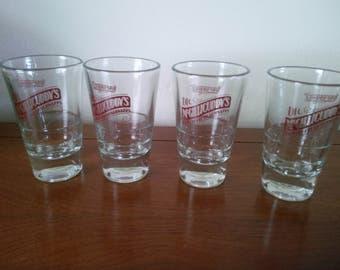 Vintage Dr. McGillicuddy's Shot Glasses - Shot Glasses  - Set of Four Shot Glasses - McGillicuddy's Shot Glasses - Schnapps Glasses