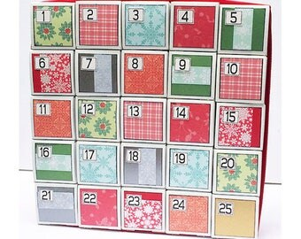 Advent Calendar Christmas Calendar Christmas Countdown Advent Decoration Holiday Calendar Box Advent Calendar Reuseable Calendar Keepsake