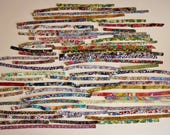 Bundle 9 - Liberty of London Tana Lawn fabric, bias tape - many pieces between 10 and 40 cm. - Sale!