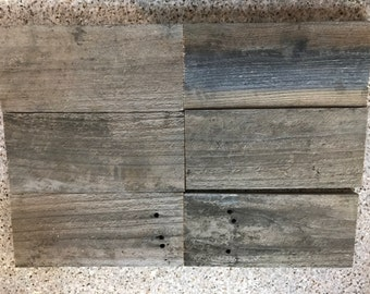 """SIX (6) reclaimed redwood DIY Sign Boards Blanks Wood - 12"""" long x 5-1/2"""" tall lot"""