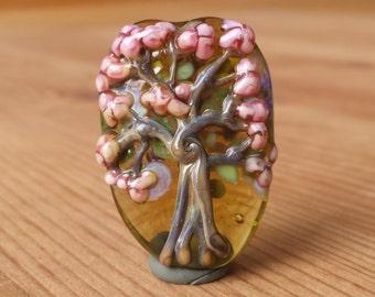 Lampwork Glass Tree Focal Bead