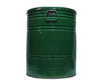 Large Green Tin Container