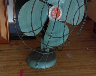 Sterling metal table fan