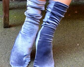 Velvet long socks