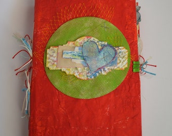 Colorful Junk Journal, Recycled Journal, Eco Friendly Journal