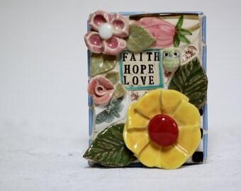 FAITH, HOPE & LOVE mosaic art