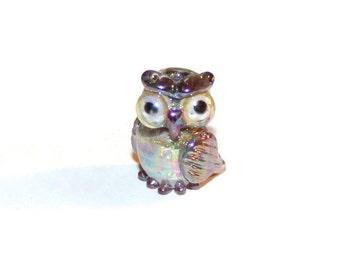 Lampwork Bead - Owl - (056)