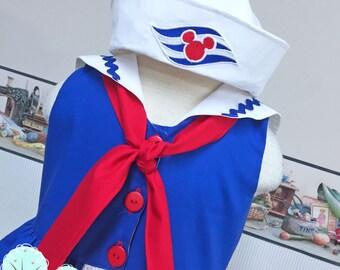 Disney Cruise Inspired - Sailor Dress  - Cruise Vacation Dress ~ Sailor Dress ~ Birthday Party ~ Mickey - Minnie  ~ Disney Vacation