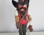 Vintage Holzkunst Christian Ulbricht Pilgrim,Pirate Nutcracker Made In West Germany,christmas nutcracker  herminas cottage german nutcracker