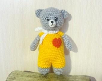 Hand Knit Soft Toy Teddy