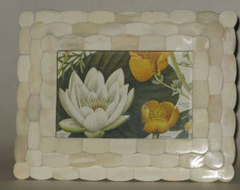 Fancy Mother of Pearl Photo Frame
