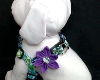 Step in Dog Harness Flower Set/ Indian Batik Print  - Size XXS, XS, S, M