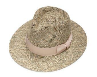 Womens classic fedora hat ,  Summer straw hat , Wide brim sun hat , Beach hat , Straw hat , Mens straw hat , Fashionable straw hat
