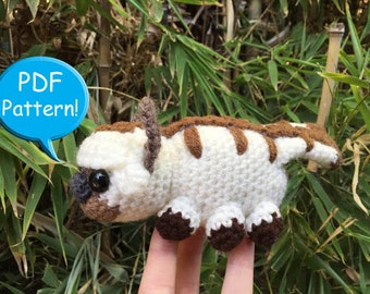 PDF PATTERN for Crochet Appa Amigurumi doll toy plushie Avatar the Last Airbender