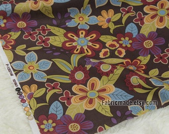 Vintage Floral Cotton Fabric Quilt Cotton Fabric Colors Flower Cotton- 1/2 Yard