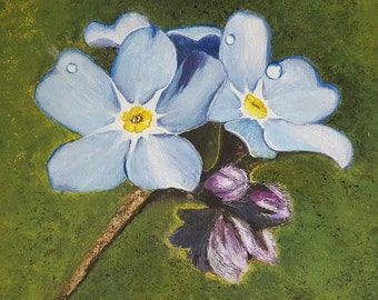Forget Me Not. Original Acrylic Painting
