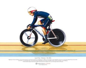 Laura Trott, Omnium Winner, Rio Olympics ART POSTER A3 size