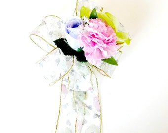 Female gift bow, Birthday gift bow, Home decor, Bow for Spring and Summer wreaths, Gift for women, Mother's Day gift, Gift wrap bow  (HB97)