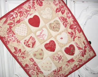 Miniature Hearts Quilt